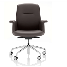Boss Design Mea Chair Mid Back in Leather