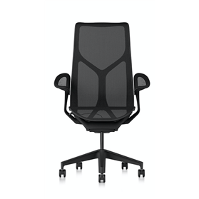 Herman Miller Cosm Graphite High Back Chair, Leaf Arms