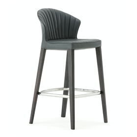 Allermuir Cardita Leather Bar Stool Designed By Martin Ballendat