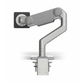 Humanscale M10 Monitor Arm with Silver Trim, Clamp Mount