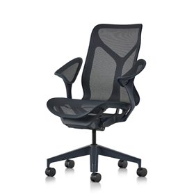 Herman Miller Mid Back Cosm Chair Leaf Arms in Nightfall
