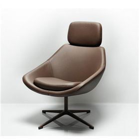 Allermuir Open Lounge Chair With Headrest designed By Pearson Lloyd