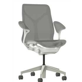 Herman Miller Mid Back Cosm Chair Leaf Arms in Mineral