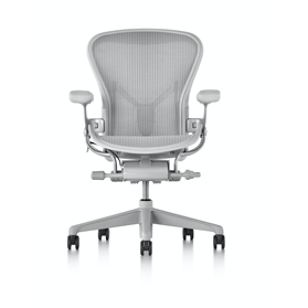 Herman Miller Aeron, Mineral Finish, Dark Mineral Base Size B (Medium)