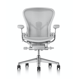 IN STOCK Executive Herman Miller Aeron, Polished with Mineral Frame, Size C (Large)