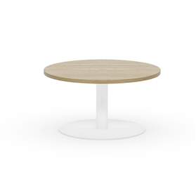 Komac Reef Round Top & Bottom 600mm Diameter White/Beech Coffee Table