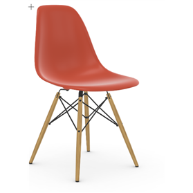 Vitra Eames DSW Chair, Poppy Red