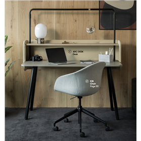 Allermuir Arc Desk with Gantry Screen & Shelf