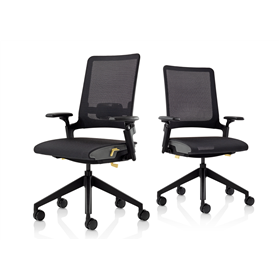 Orangebox Kirn Mesh seat and back all black office chair