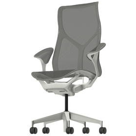Herman Miller Cosm High Back Chair, Leaf Arms, Studio White Frame
