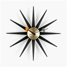 Vitra George Nelson Sunburst Clock - Black Edition