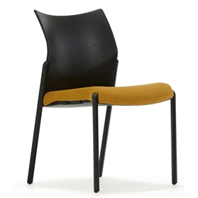 Senator Trillipse Four Leg Stacking Chair, Plastic Back