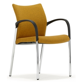 Senator Trillipse Four Leg Stacking Chair, Fully Upholstered