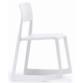 Vitra Tip Ton Solid Plastic Tipping Chair, White