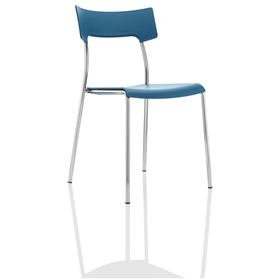 Boss Design Zandi Multi-Purpose Plastic Chair, Blue