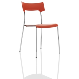 Boss Design Zandi Multi-Purpose Plastic Chair, Orange