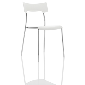 Boss Design Zandi Multi-Purpose Plastic Chair, White