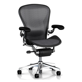 Herman Miller Aeron Polished Executive, Platinum Waves Weave