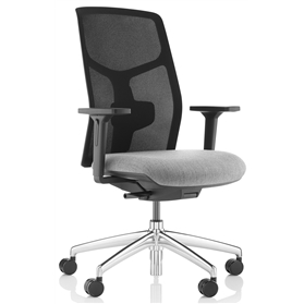 Komac Tauro Chair, Full Mesh Back, Black