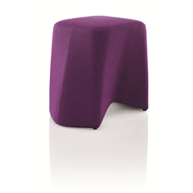 Boss Design Hoot Fully Upholstered Stool on Glides