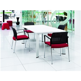 Boss Design Apollo Rectangular Table 4 Leg, Laminate Finish Various Sizes