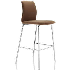 Boss Design Arran Upholstered Bar Stool Chrome 4 Leg