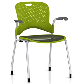 Herman Miller Caper Stacker Armchair with Flexnet Seat - Silver