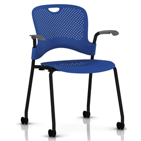 Herman Miller Caper Stacker Chair with Arms - Black