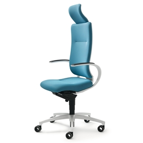 Dauphin InTouch High Back Swivel Chair with Neckrest - White Edition