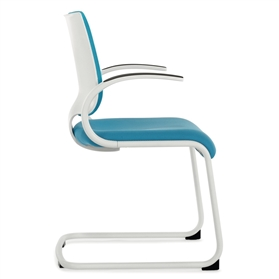 Dauphin InTouch Cantilever Visitor Chair - White Edition