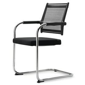 Dauphin Lordo Cantilever Visitor Chair Mesh Back