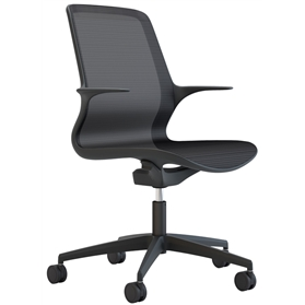 Elite Tempo Black Mesh Office Swivel Chair