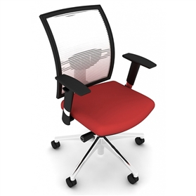 Elite Loreto Swivel Office Chair, White Mesh