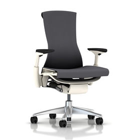 Herman Miller Embody White Frame, Charcoal Rhythm Fabric