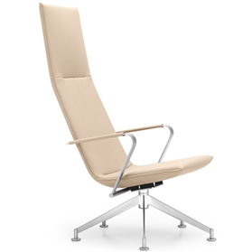 Girsberger Jack Leather Lounge Swivel Chair