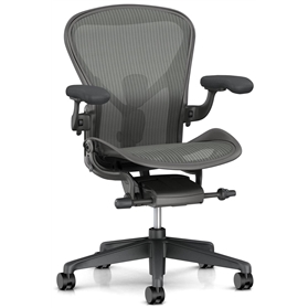 NEXT DAY DELIVERY! PRE ORDER New Herman Miller Aeron, Carbon Finish Size B, PostureFit SL
