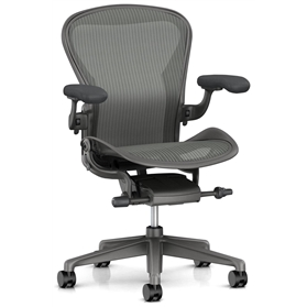 New Herman Miller Aeron, Carbon Finish Size B, Zonal Back Support