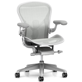 NEXT DAY DELIVERY! New Herman Miller Aeron, Mineral Finish Size B (Medium)
