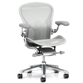 IN STOCK Executive Herman Miller Aeron, Polished with Mineral Frame, Size B (Medium)