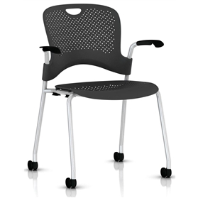 Herman Miller Caper Conference Chair, Moulded Black Seat