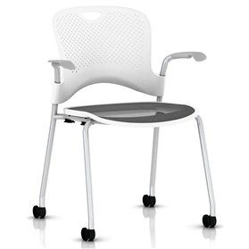 IN STOCK Herman Miller Caper Conference Chair Studio White, 3-5 working day dleivery