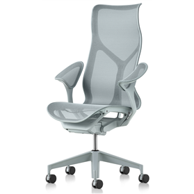 NEXT DAY DELIVERY! Herman Miller Cosm Glacier High Back Chair, Leaf Arms