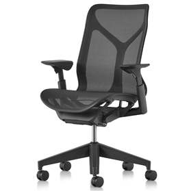 Herman Miller Mid-Back Cosm Chair Graphite, Height Adjustable Arms