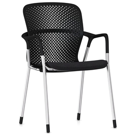 NEXT DAY DELIVERY! Herman MIller Keyn 4-Leg Meeting Chair, Chrome Frame