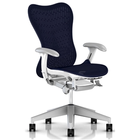 Herman Miller Mirra 2 Twilight  White Frame Fog Base