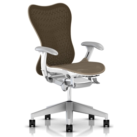 Herman Miller Mirra 2 Cappuccino with White Frame Fog Base