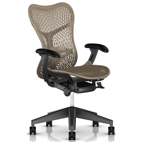 Herman Miller Mirra 2, Triflex II Back, Cappuccino with Graphite Frame