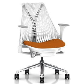 Herman Miller Sayl, Amber, Polished Aluminium Base