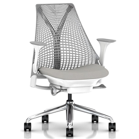 Herman Miller Sayl, Aristotle, Polished Aluminium Base