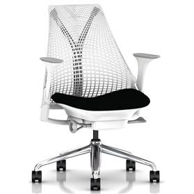 Herman Miller Sayl, Pitch Black, Polished Aluminium Base